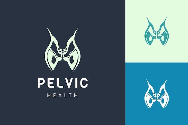 Logotipo de órgano pélvico para plantilla de logotipo de tratamiento o terapia