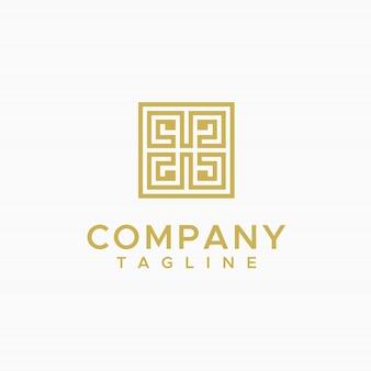 Logotipo de ornamento de borde de marco