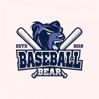 Logotipo del oso de béisbol