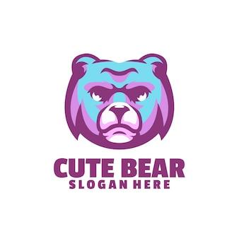 Logotipo de oso lindo