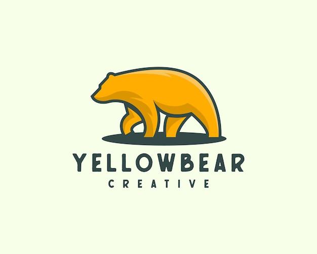 Logotipo de oso moderno