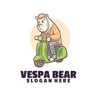 Logotipo de oso de motocicleta