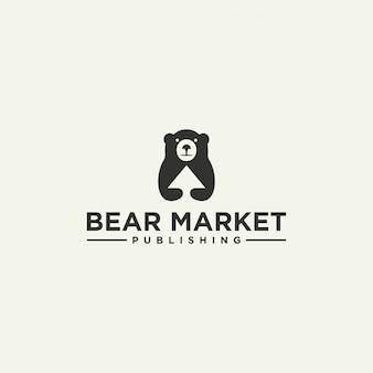 Logotipo del oso oscuro