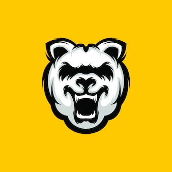 Logotipo de oso premium