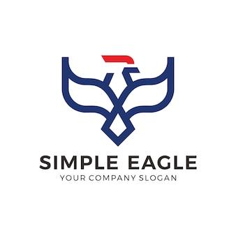 Logotipo de pájaro abstracto