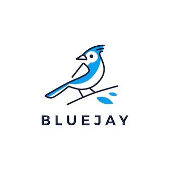 Logotipo del pájaro blue jay
