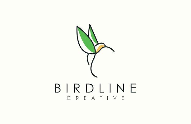 Logotipo de pájaro de contorno moderno