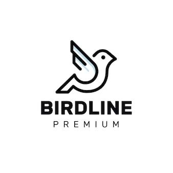 Logotipo de pájaro monoline