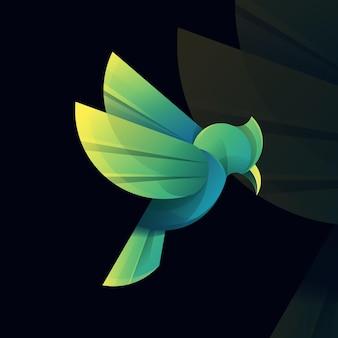 Logotipo de pájaro verde