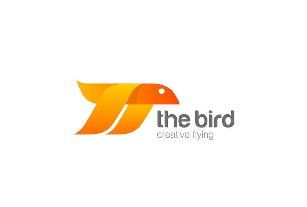 Logotipo de pájaro volador.