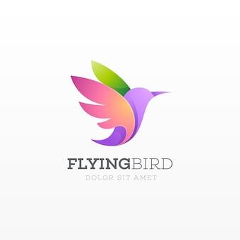 Logotipo de pájaro volador