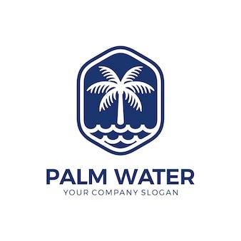 Logotipo de palma y agua.