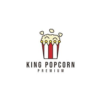 Logotipo de palomitas de maíz rey