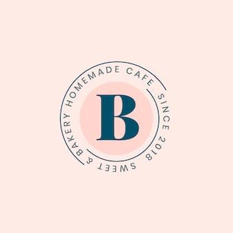 Logotipo de panadería casera con diseño de placa.