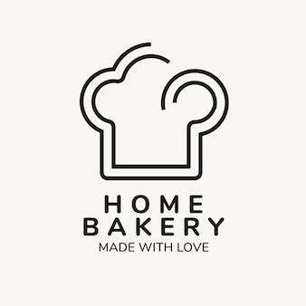 Logotipo de panadería, plantilla de negocio de alimentos para diseño de marca