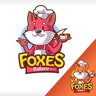 Logotipo de panadería zorros