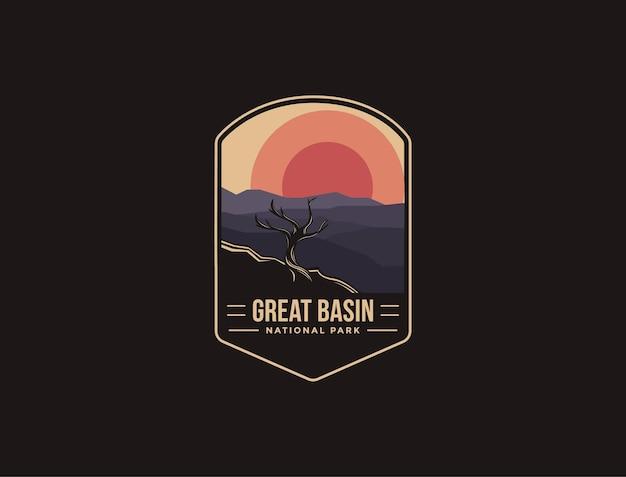Logotipo del parche del emblema del parque nacional great basin