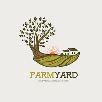 Logotipo del patio de la granja