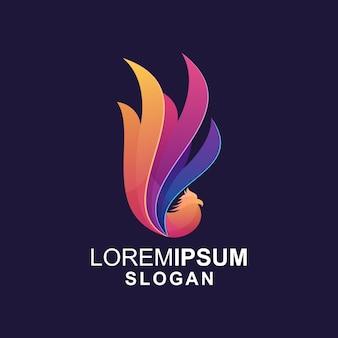 Logotipo de pavo real