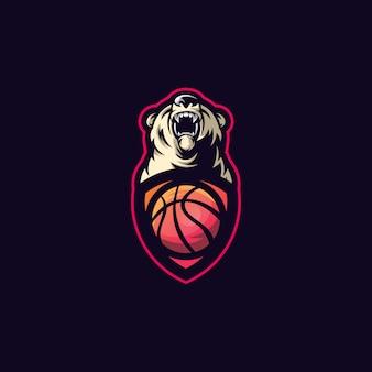 Logotipo de la pelota deportiva del oso