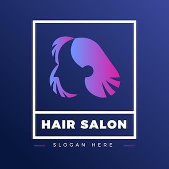 Logotipo de peluquería degradado