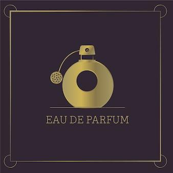 Logotipo de perfume con diseño de lujo.
