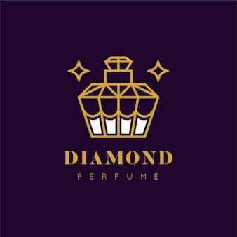 Logotipo de perfume de diseño de lujo