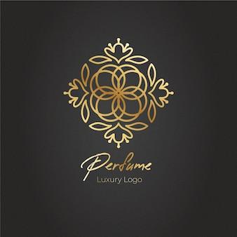 Logotipo de perfume floral de lujo
