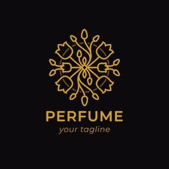 Logotipo de perfume de lujo