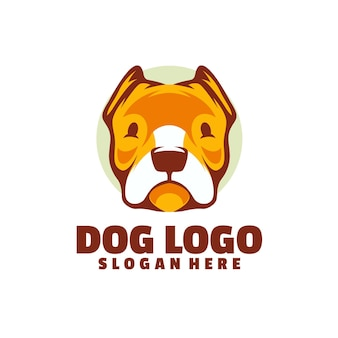Logotipo de perro aislado en blanco