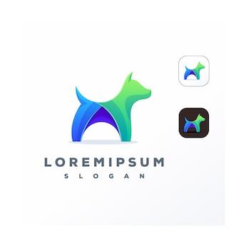 Logotipo de perro colorido