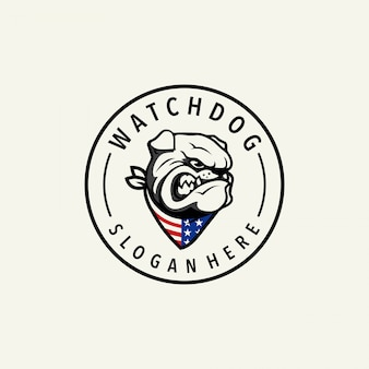 Logotipo de perro guardián