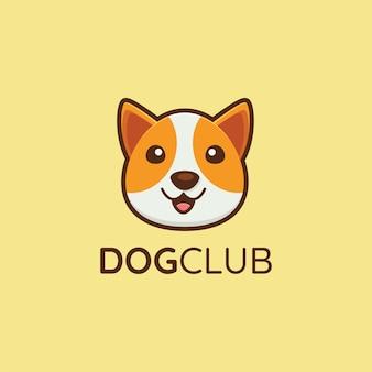 Logotipo de perro lindo para club de perros