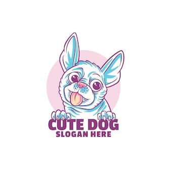 Logotipo de perro lindo