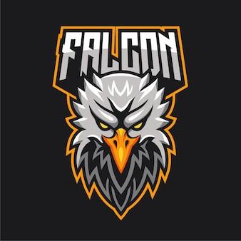 Logotipo del personaje de la mascota de e-sports eagle