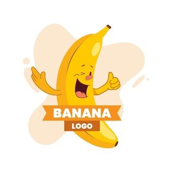Logotipo de personaje de plátano