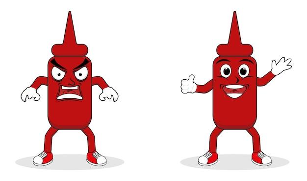 Logotipo del personaje de salsa de tomate