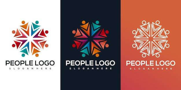 Logotipo de personas abstractas