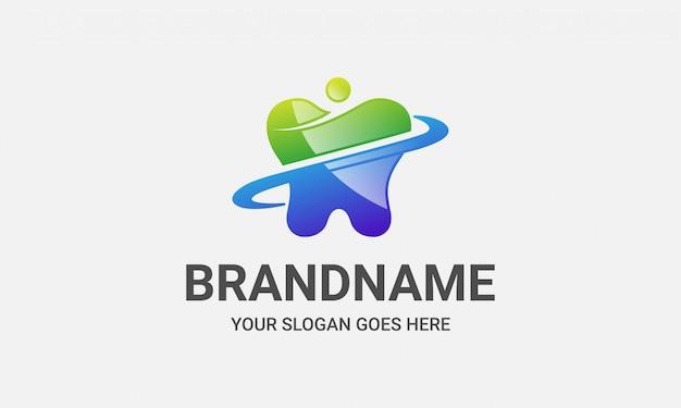 Logotipo de personas de atención de clínica dental