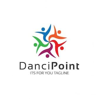 Logotipo con personas en un círculo