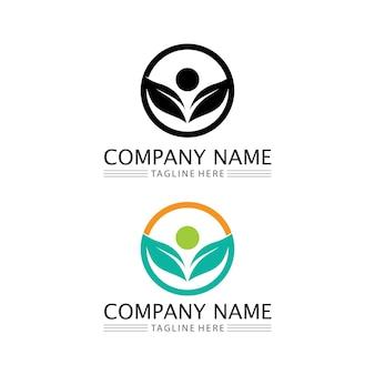 Logotipo de personas, equipo, trabajo exitoso de personas, grupo y comunidad, vector y diseño de logotipo de empresa y negocio de grupo y cuidado, icono de familia logotipo de éxito