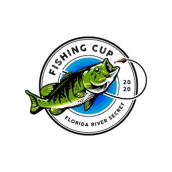 Logotipo de pesca para mascota