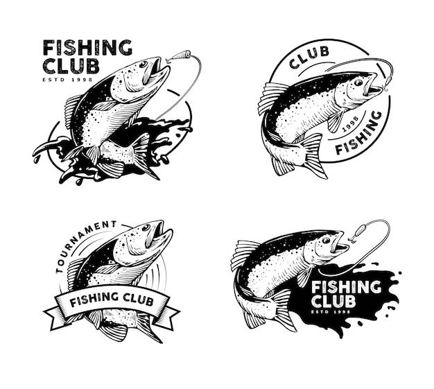 Logotipo de pesca con opciones