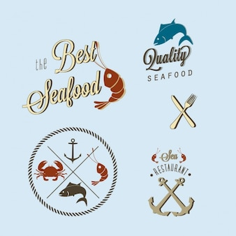 Logotipo de pescados y mariscos