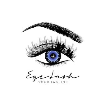 Logotipo de pestañas de belleza de lujo