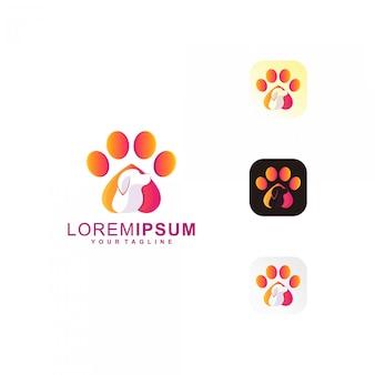 Logotipo de pet paw premium