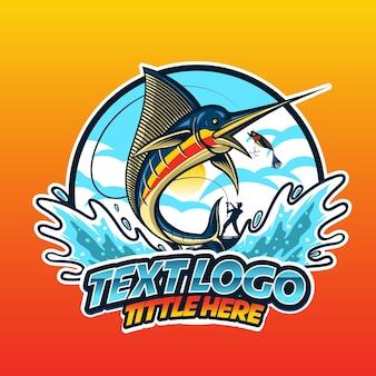 Logotipo de pez saltando