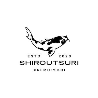 Logotipo de pez shiro utsuri koi