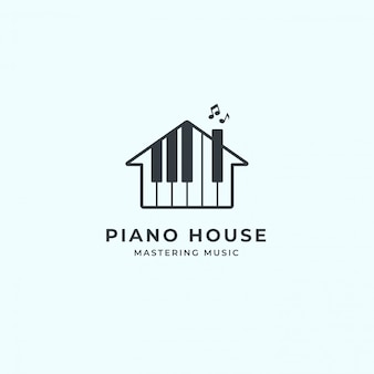 Logotipo de piano house