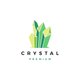 Logotipo de piedra preciosa de cristal